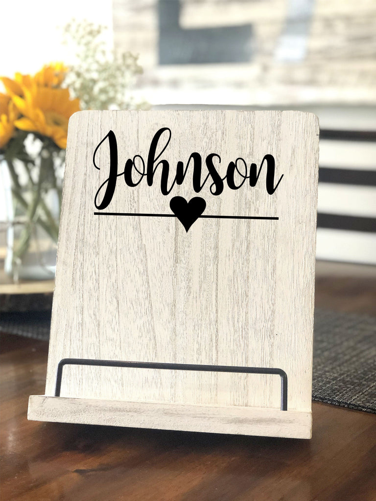 Personalized Cookbook Stand
