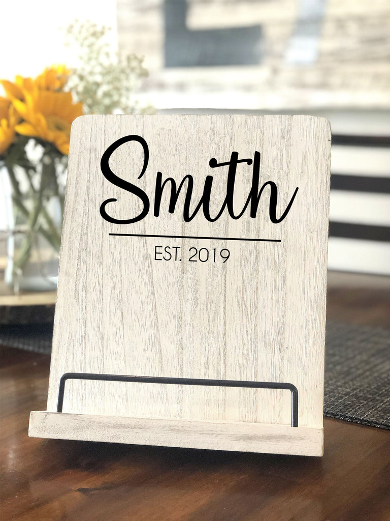 Personalized Wooden Tablet Stand