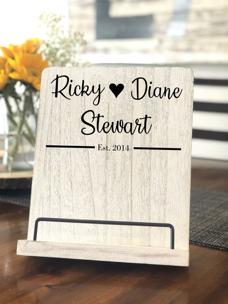 Wooden Personalized Recipe Stand