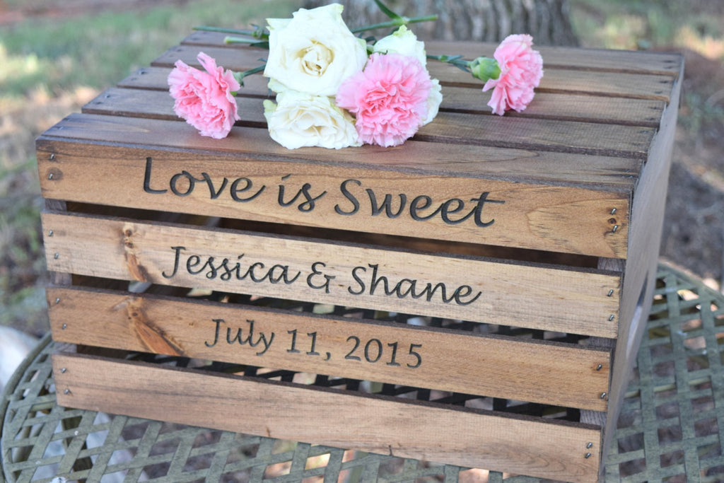 Cake Crate with Personalized Engraving