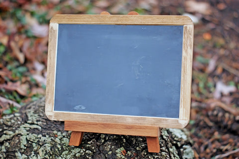 Framed Chalkboard with Easel