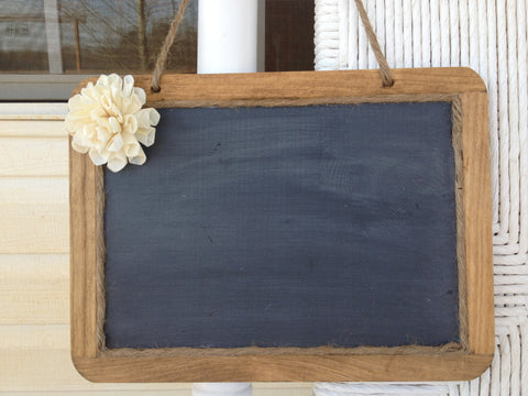 7x10 Hanging Chalkboard with Sola Flower