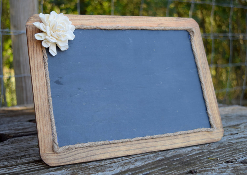 Chalkboard with Sola Flower