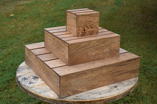 Wood Cupcake Stand - 3 Tier Cupcake Holder