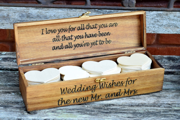 Personalized Wedding Advice Box with Hearts