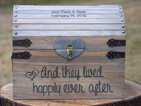 And They Lived Happily Ever After Personalized Card Chest