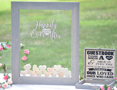 Happily Ever After Acrylic Heart Drop