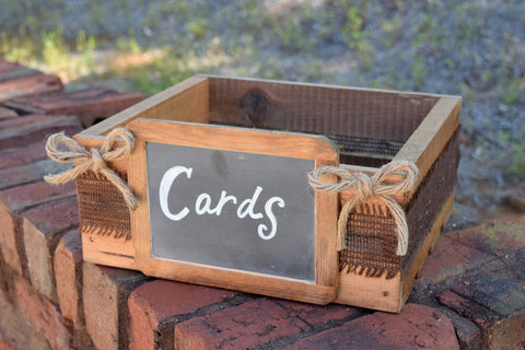 Card Box Crate with Chalkboard