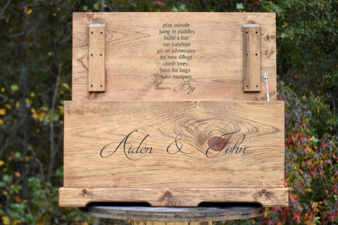 Personalized Toy Box with Inside Lid Engraving Included