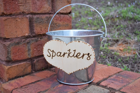Wedding Sparklers Pail