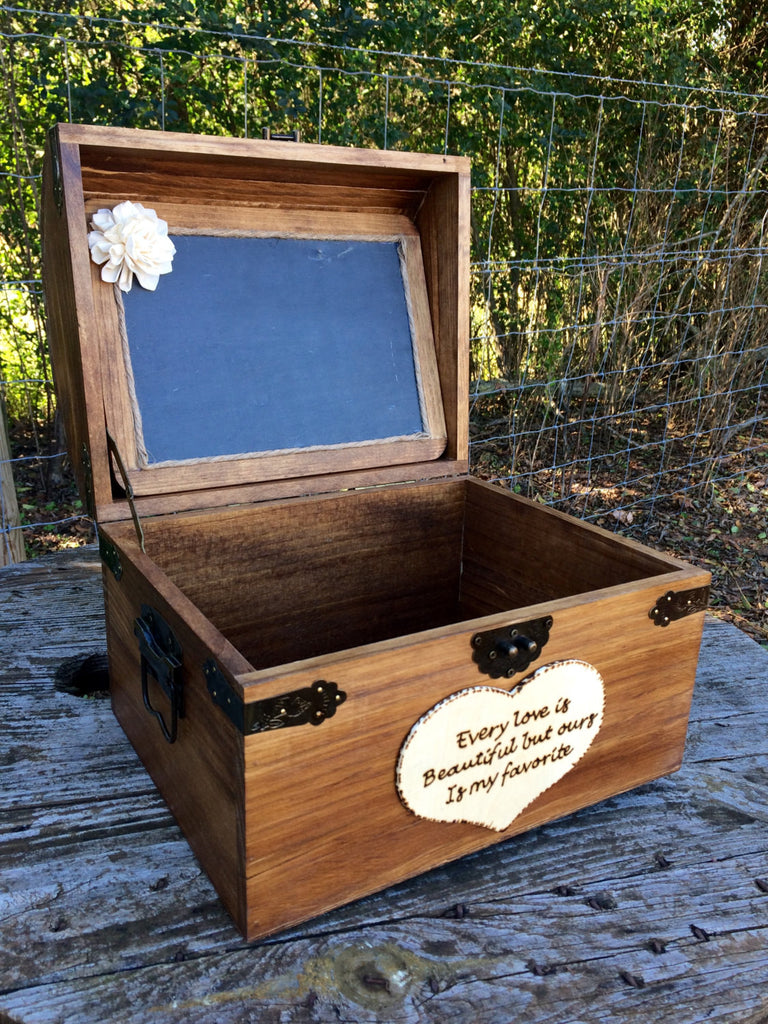 Every Love Story is Beautiful but Ours is My Favorite Large Chest with Chalkboard