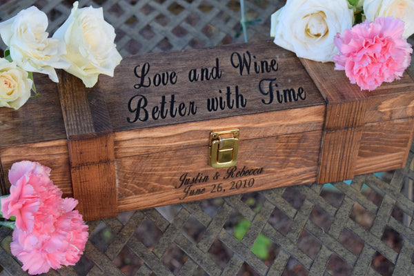 Love and Wine Better With Time Wine Box