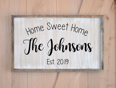 Home Sweet Home Farmhouse Welcome Sign