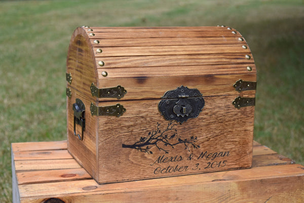 Love Birds Personalized Card Chest