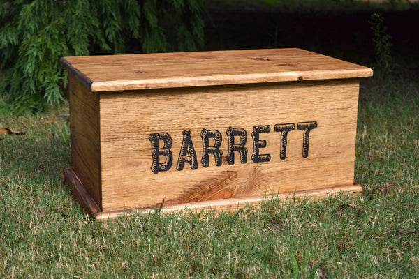 Personalized Kids Toy Box With Inside Lid Engraving