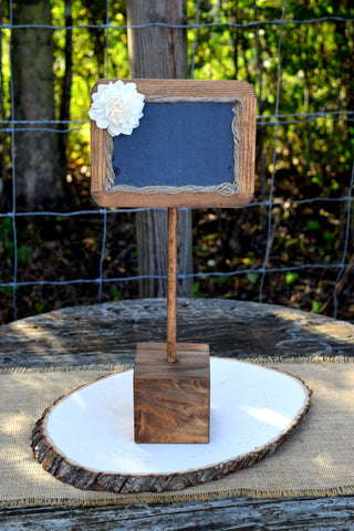 Standing 4x6 Chalkboard with Stand and Sola Flower