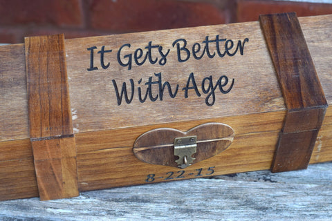 It Get Better With Age Personalized Wine Box