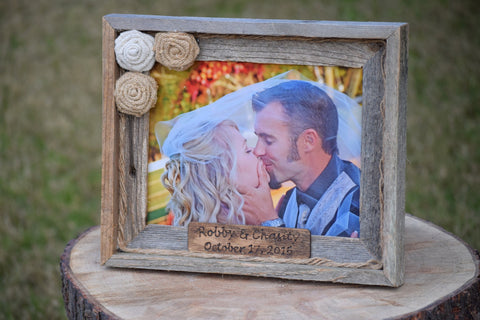 Wooden Barnyard Frame with Personalized Engraving