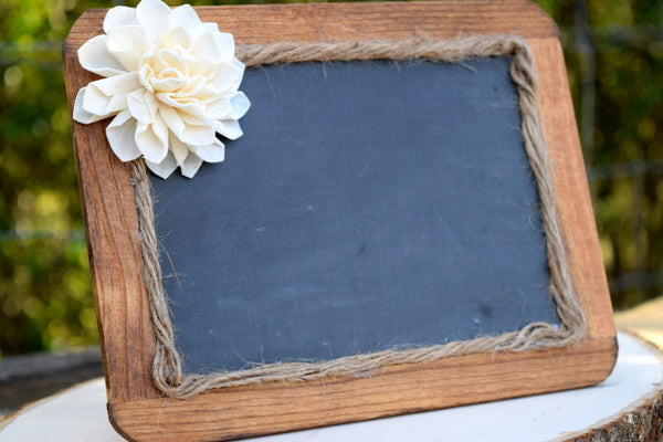 Self Resting Chalkboard with Sola Flower
