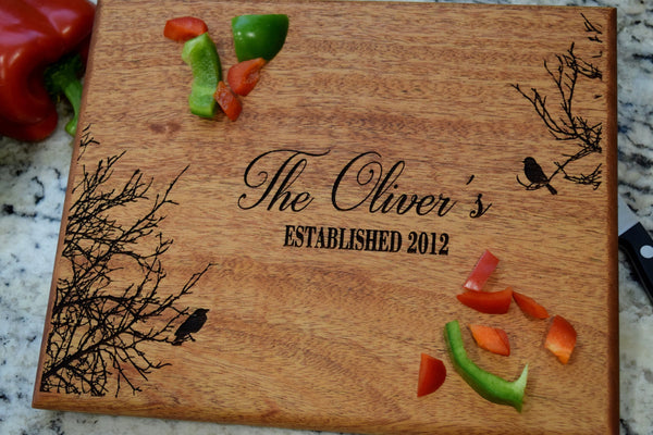 Side Love Birds Tree Cutting Board