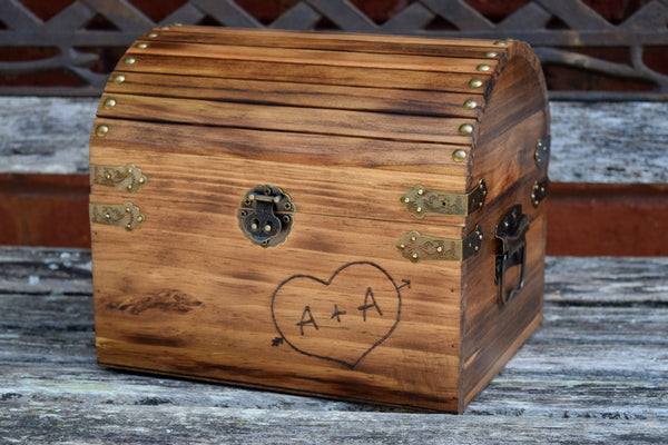 Card Box with Engraved Heart on Front and Chalkboard