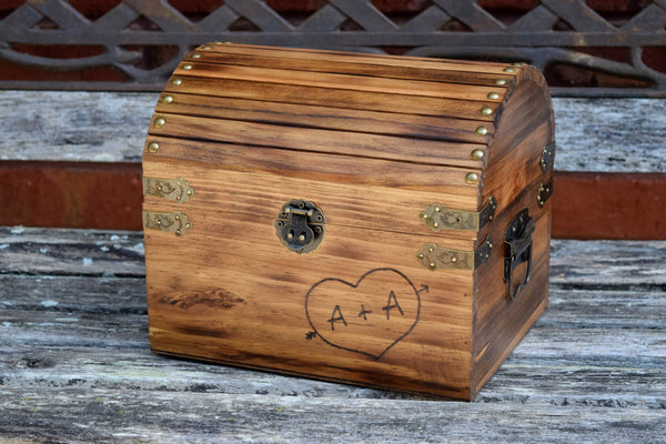 Personalized Card Box with Engraved Heart