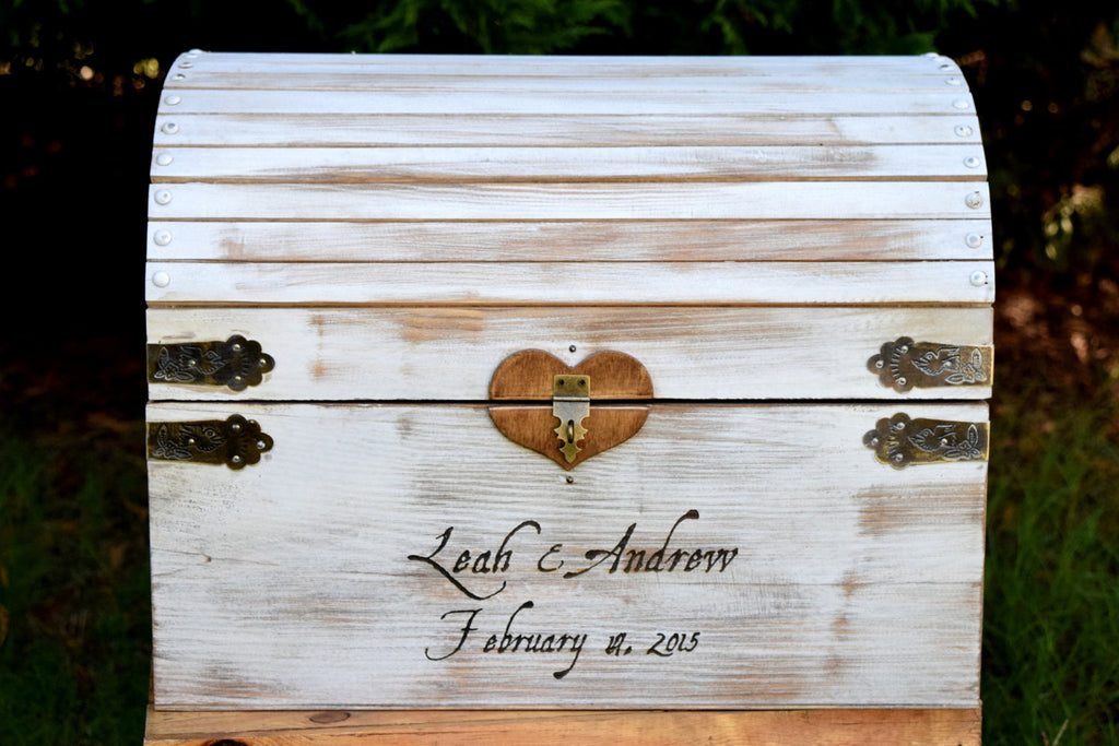 Distressed Card Box Lockable With Slot