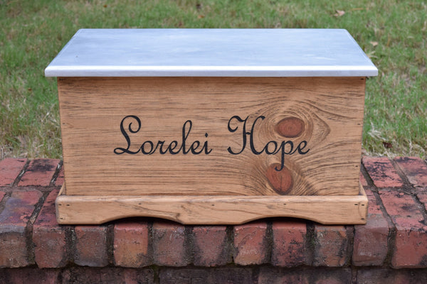Personalized Kids Toy Box With Painted Lid