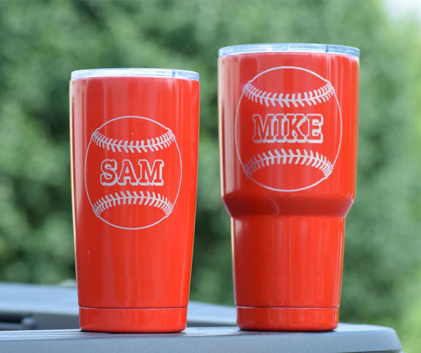 Personalized Baseball Engraved Tumbler
