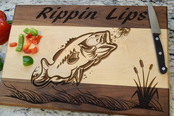 "12"" x 16"" Bass Fillet Cutting Board"