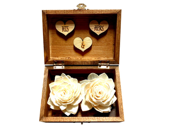 Personalized Sola Flower Ring Bearer Box-Regular