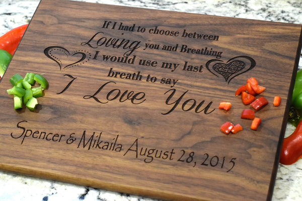 Last Breath Cutting Board