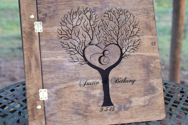 Personalized Tree Designed Wooden Guest Book