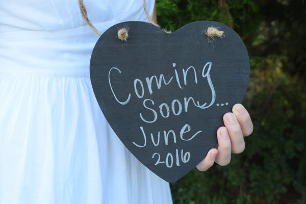 Hanging Chalkboard Heart Sign