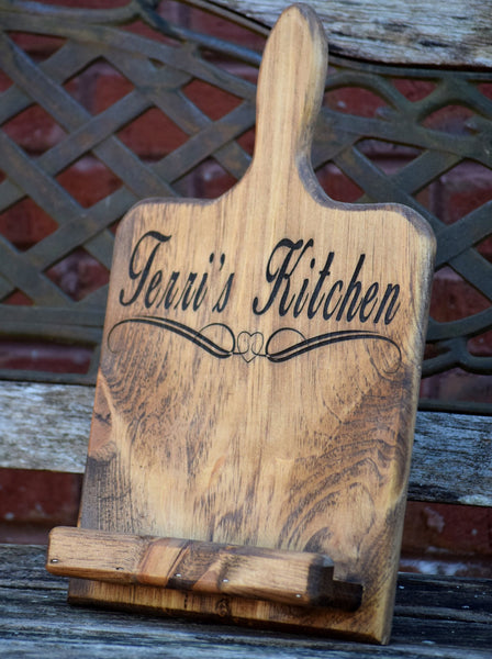 Personalized Tablet/Cookbook Holder