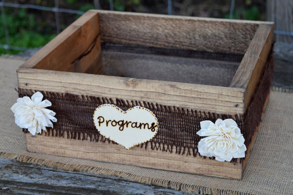 Program Crate with Sola Flowers