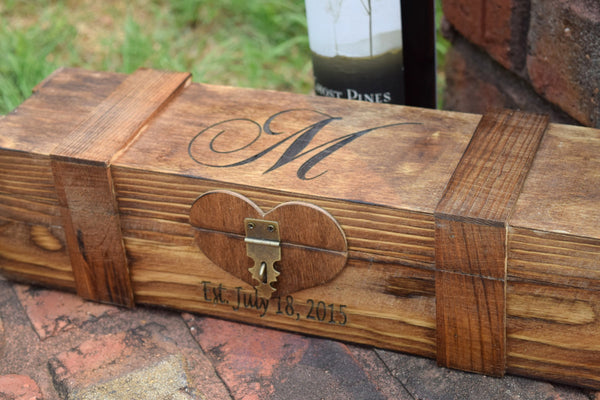 Lockable Personalized Wine Box