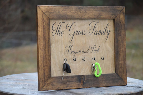 Personalized Wall Hanging Key Hanger