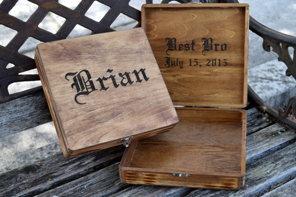 Personalized Cigar Box - Groomsman Gift