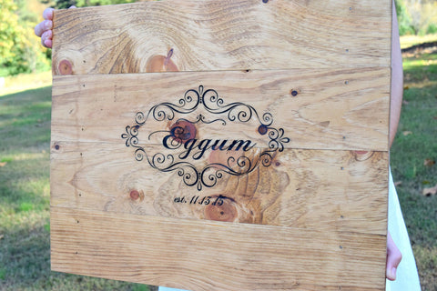 Guest Signature Pallet Board Sign - Guest Book Alternative