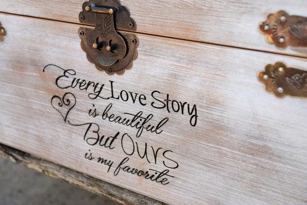Every Love Story is Beautiful but Ours is my favorite Distressed Card Box