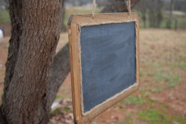 Hanging Rustic Chalkboard Sign