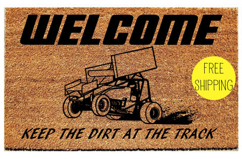 Race Car Front Doormat