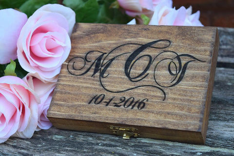 Monogrammed Ring Bearer Box