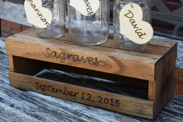 Three Jar Unity Set with Personalized Crate