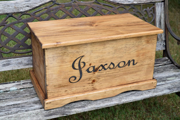 23x13x13 Kids Toy Chest with Inside Lid Engraving