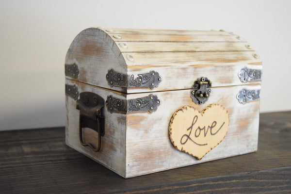 Distressed Chest with Personalized Heart