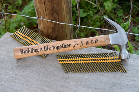 Building a Life Together Engraved Hammer