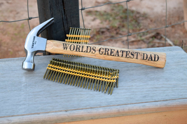 Worlds Greatest Dad Engraved Hammer