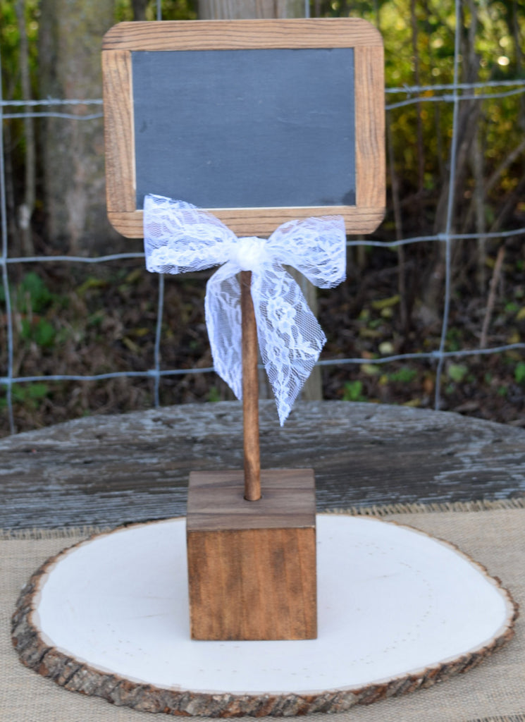 Standing 4x6 Chalkboard with Stand and Lace Bow